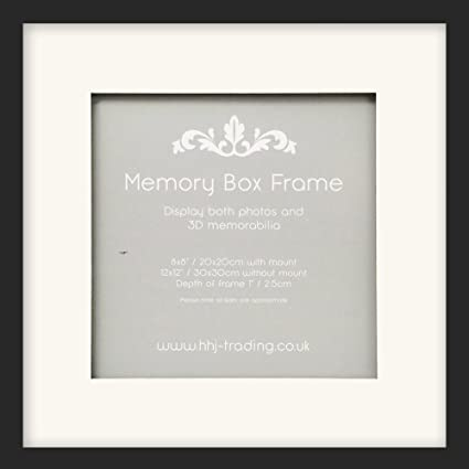 12 x 30,48 cm/8 x 20,32 cm 3D negra Memory Box marco de fotos de ...
