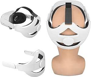 Esimen Adjustable Head Strap for Oculus Quest 2 VR Headrest Strap Elite Comfort Foam Pad, Balance Weight/Relieve Face Squeeze (Large-Q2)