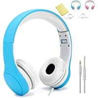 [Volume Limited] KPTEC Kids Safety Foldable On-Ear Headphones with Mic, Volume Controlled at Max 93dB to Prevent Noise…