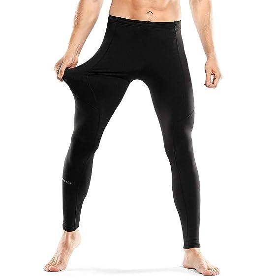 INBIKE Pantalons sous Pantalon Polaire Homme Hiver Legging Pantalons de Compression  Élastique Fitness Courir Cyclisme Confort Respirant Sports Hiver  ... d0f06cd248a