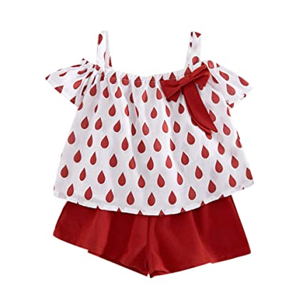 3f04f46e3 Image Unavailable. Image not available for. Color: ❤ Mealeaf ❤ Toddler Kids  Baby Girls Outfits Clothes ...