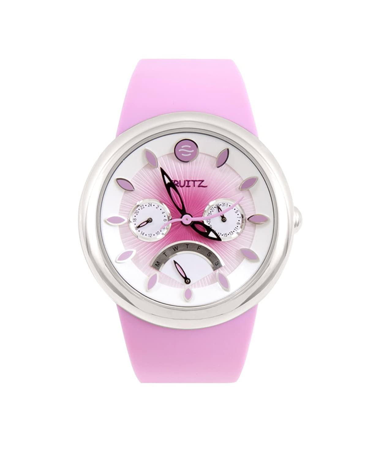 Strawberry Daiquiri Pink Dial Pink Silicone Strap Unisex Armbanduhr