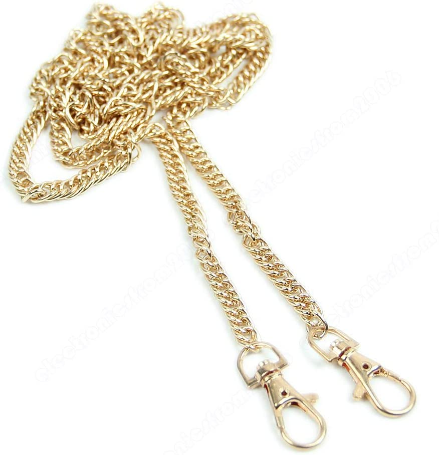 SimpleLif DIY Purse Handbag Chain Shoulder Strap Chains Bags Replacement Straps Handle with Buckles 120cm