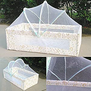 WALLER PAA Baby White Mosquito Net Netting Canopy for Nursery Crib Bed Cot Canopy Playpens