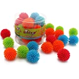 "MICHLEY 18pcs 1.18"" Mini Soft Vinyl Multicolor Porcupine Balls"