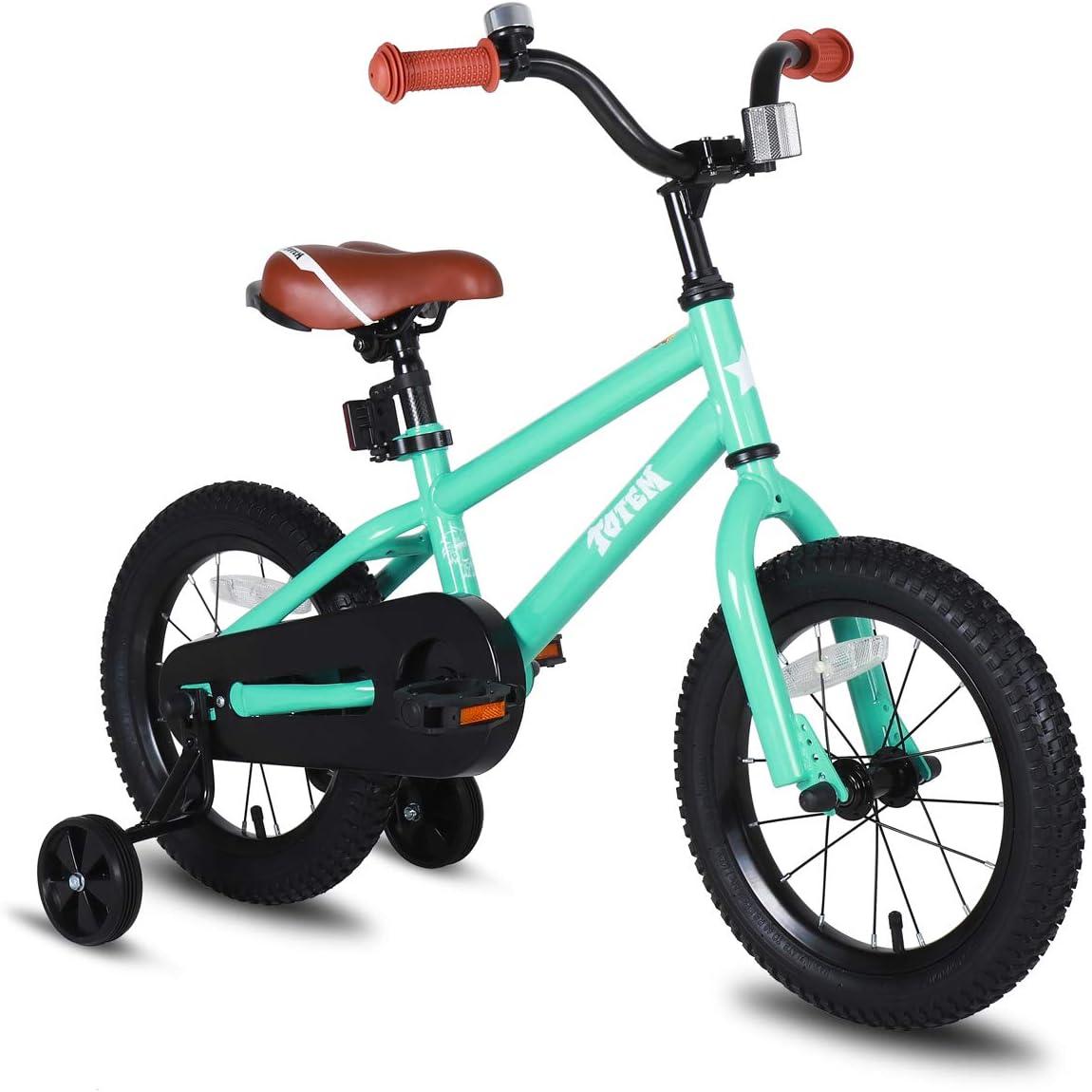 Kickstand for 18 inch Bike Blue Ivory Red Orange Pink Green JOYSTAR Totem Kids Bike with Training Wheels for 12 14 16 inch Bike