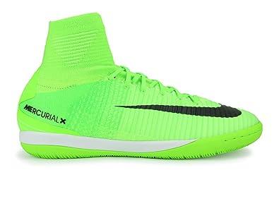 dfe47b71937c Nike Mens MercurialX Proximo II Dynamic Fit Indoor Soccer Shoes Electric  Green Black Flash