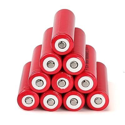 10pcs 3.7V 6800mAh Li-Ion rechargeable 18650Batterie pour lampe de poche torche