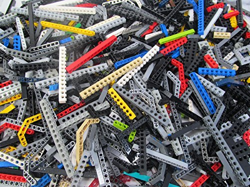 Mixed 1 Pound Lot of Lego Technic Beams with Holes (Lego Technic Parts)