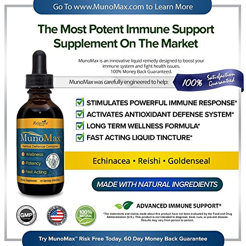 MunoMax - Real Immune Support | All-Natural Liquid Formula for 2X Absorption | Elderberry, Echinacea, Turmeric & More! by Rejuvica Health (Image #1)