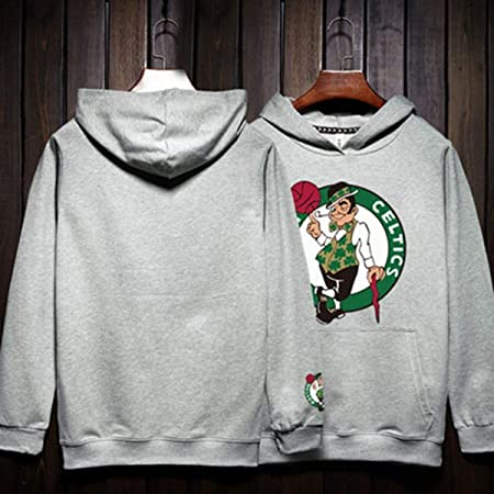 Zay Luay Hombres Sudadera celtas/tío dibujó Baloncesto Jersey con ...