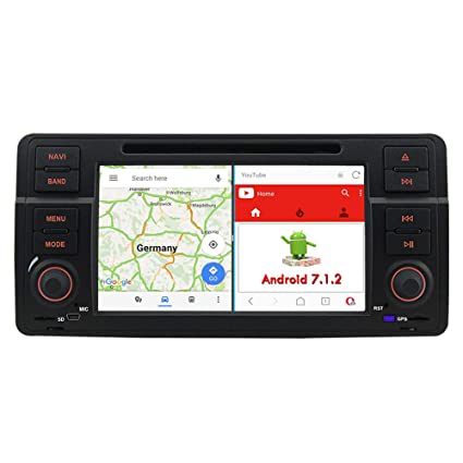 A de Sure Android 7.1.2 Auto Radio DVD GPS navegación MirrorLink 1024 * 600 WiFi ...