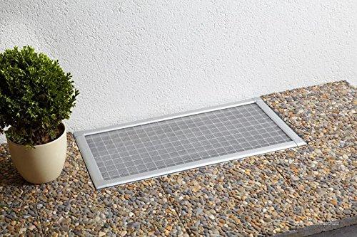 5er Set Kellerschacht Lichtschacht Abdeckung Gitterrost Lichtschachtabdeckung Kellerschachtabdeckung 80 x 150 cm individuell kürzbar