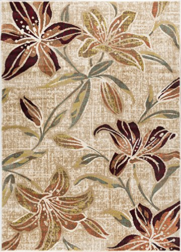 Universal Rugs DCO1117 8x10 Lily Area Rug, 8' x 10', ()