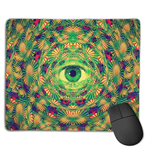 Mouse Pad Eyes Phantoscope Painting Illustration Rectangle Rubber Mousepad 8.66 X 7.09 Inch Gaming Mouse Pad with Black Lock Edge -