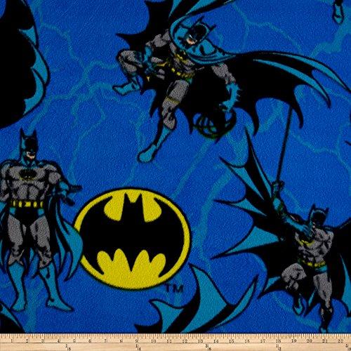 Eugene Textiles DC Comics Batman Rope Fleece Multi Fabric by The Yard,]()