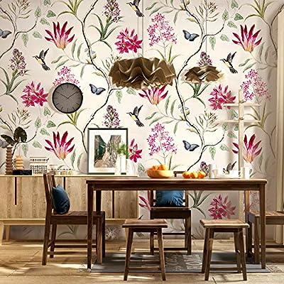 Vintage wallpaper in the bedroom of Will Byers (Noah Schnapp ...