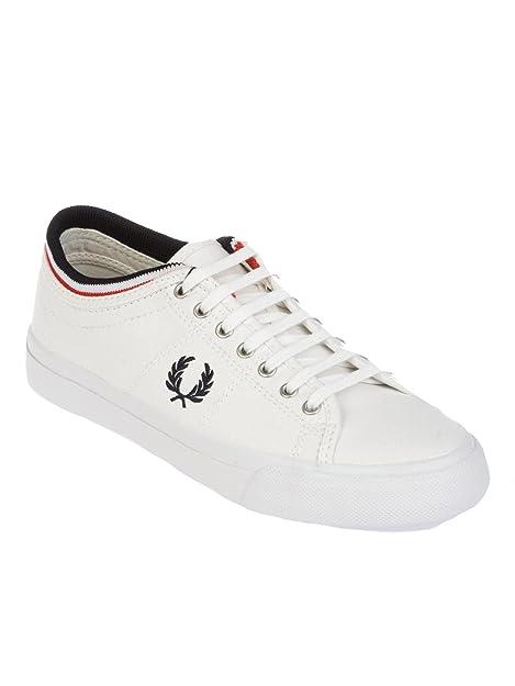 Fred Perry - Zapatillas de Gimnasia Hombre, Blanco (Blanco), 40 EU: Amazon.es: Zapatos y complementos