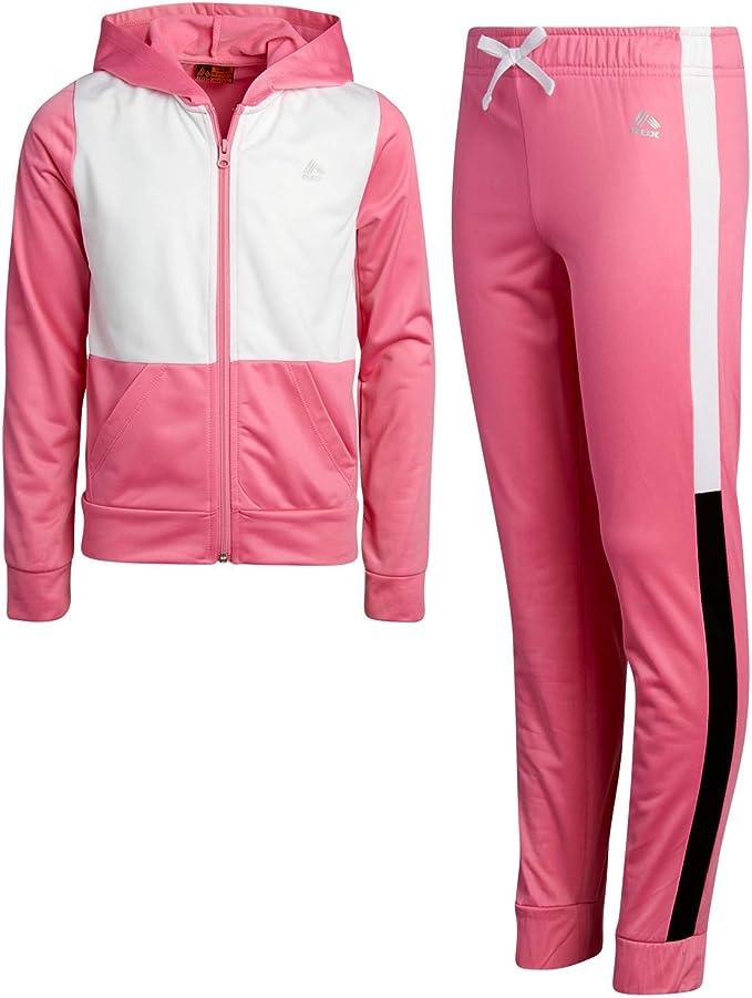 RBX Girls Activewear Tracksuit Set Sherpa Fleece Quarter-Zip Pullover Performance Sweatshirt and Track Sweatpants