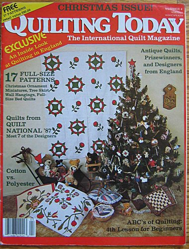 Quilting Today Magazine Christmas Issue 1987 Vol. 1, No. 4, Ornaments, Tree Skirt, Wall Hangings, Bed Quilts