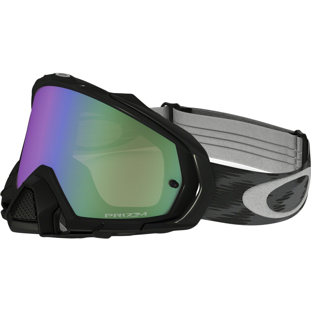 Oakley Mayhem Pro MX Adult Off-Road Motorcycle Goggles Eyewear - Jet Black/Prizm MX Jade/One Size Fits All