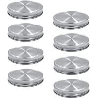 8pcs Pack 304 Stainless Steel Wide Mouth Mason Jar Lids Storage Caps, Rust-proof and Leak-proof, Compatible with Ball & Kerr Mason Jars