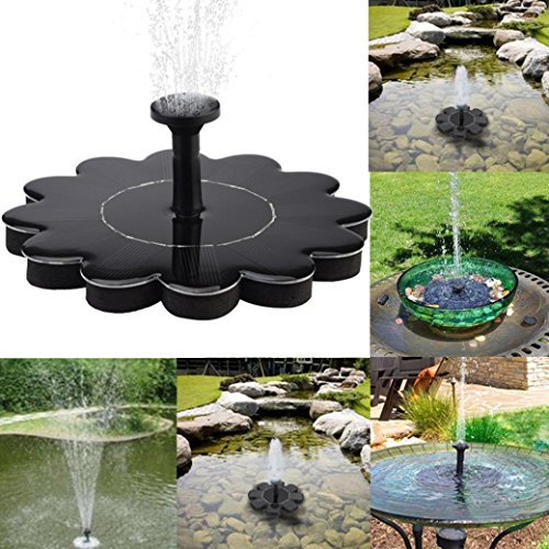 Buolo Outdoor Solar Bird Bath Water Fountain Pump Solar Panel Water Floating For Pool, Small Pond,Garden, Aquarium by Buolo
