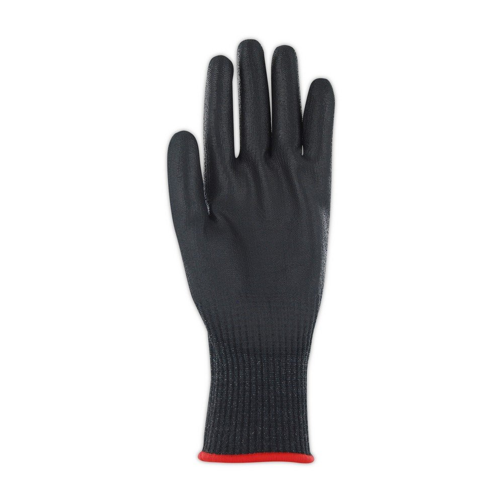 Glove & Safety GPD590B-5 D-ROC Black Hyperon Polyurethane Palm Coated Work Gloves, Cut Level A5, 5'', Black (Pack of 12) by Magid Glove & Safety