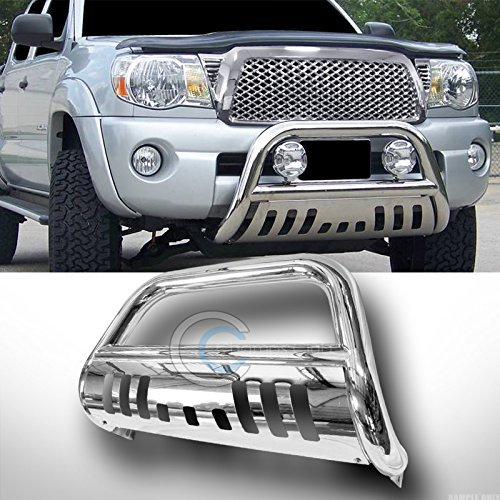 R/&L Racing Bull Bar Compatible with Chevy Silverado//Sierra 1500 14 15 Stainless Chrome Push Bumper Grill Grille