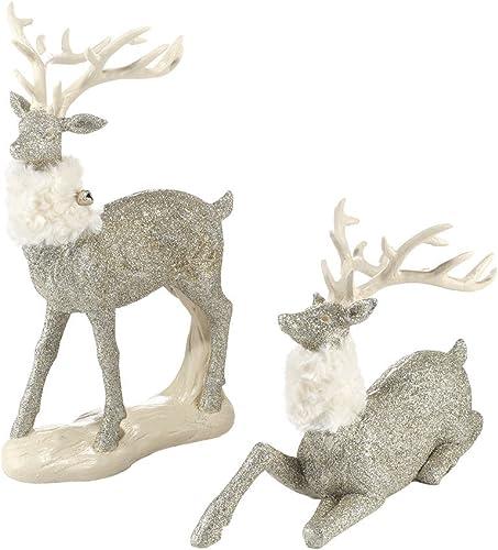 Department 56 Snowbabies Glittered Reindeer Pair Figurine, 13 inch