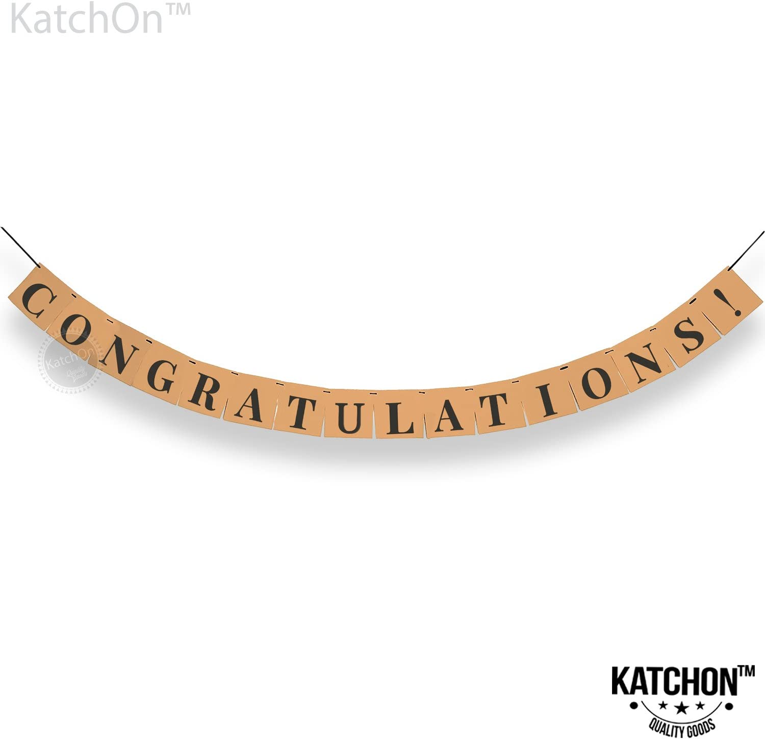 Congratulations Banner, Graduation Party Supplies - Classy Eye Catching Kraft Paper | Graduation Decorations| Graduations Banner Sign | for Achievement Party Celebrations, Retirement, Bridal Shower