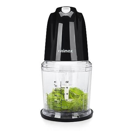 Cusimax 260W Mini Picadora, Picadora de alimentos electrica con recipiente el plastico de 0,