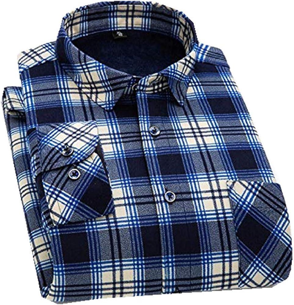 Camisa de Invierno para Hombre de Terciopelo cálido, Manga Larga, Vestido de Forro Polar, Casual, tamaño Grande, Suelta, Camisa para Hombre Azul Azul Celeste XXXXXL: Amazon.es: Ropa y accesorios