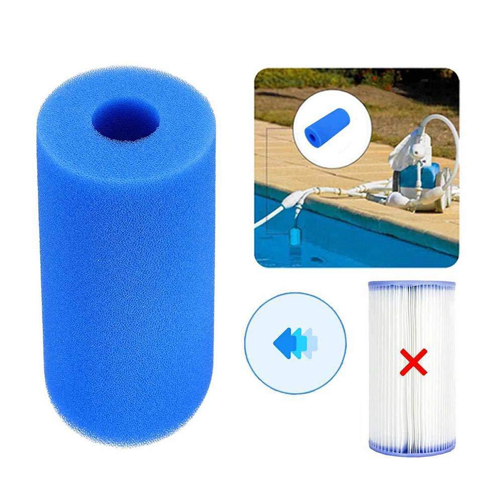 Type A WQW Intex-Zubeh/ör Type C Wiederverwendbare//Waschbare Schwimmbad Filter Schaum Patrone Schwamm
