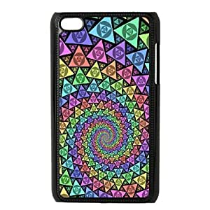 iPod Touch 4 Case Black Colorful Fantasy Trippy C2KN