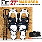 """New MTN Snowshoes Man Woman Kid Youth 27"""" WP +black Nordic pole+ Carrying Tote Bag"""