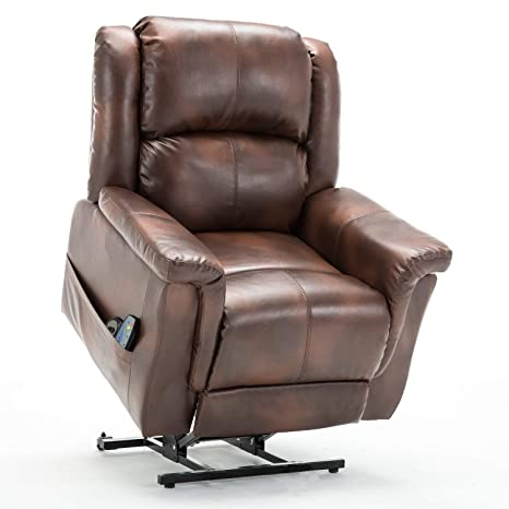 Tremendous Comhoma Leather Recliner Chair Modern Rocker With Heated Massage Ergonomic Lounge 360 Degree Swivel Single Sofa Seat With Drink Holders Living Room Onthecornerstone Fun Painted Chair Ideas Images Onthecornerstoneorg