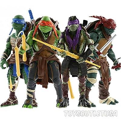 Teenage Mutant Ninja Turtles Action figures Toys   4 Piece Set   5 Inch Tall   By ToysOutletUSA