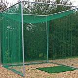 *FLASH SALE* GOLF CAGE - Includes Galvanised Frame & Net (Professional Golf Club Spec) [Net World Sports]