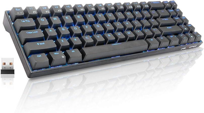 Velocifire teclado mecánico, 78 teclas con interruptores ...
