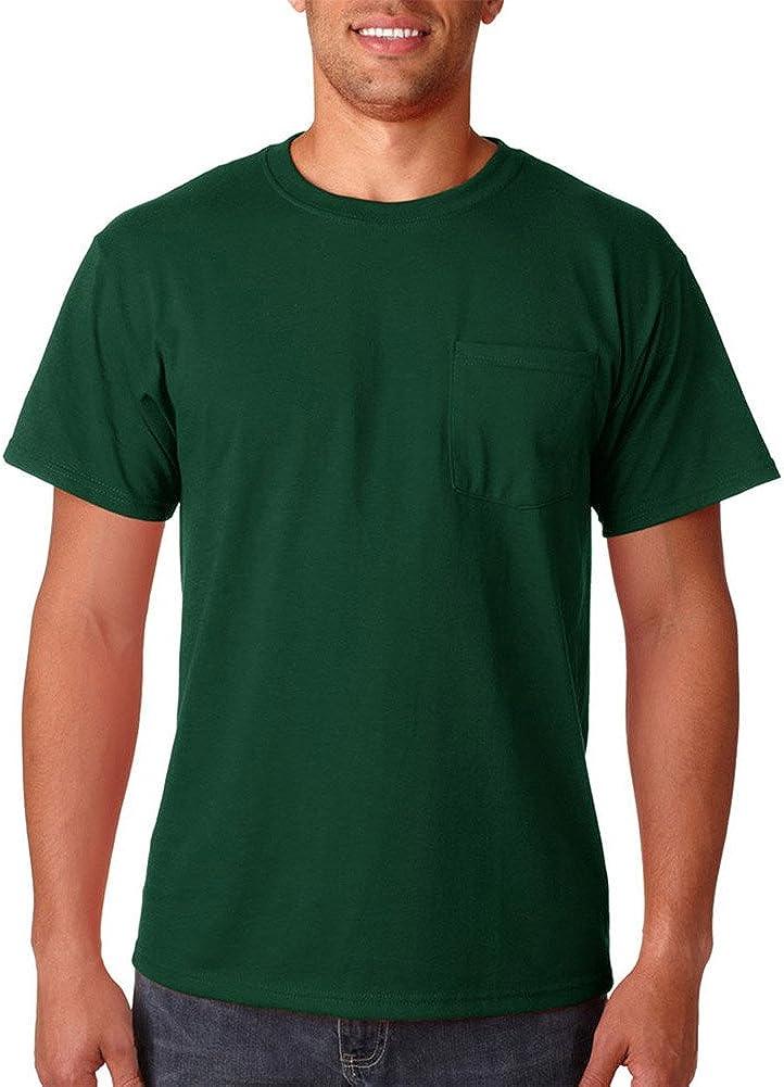 Medium BURNT ORANGE Jerzees 5.6 oz. 50//50 Heavyweight Blend Pocket T-Shirt