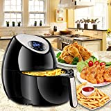 SUPER DEAL Large Digital Deep Air Fryer Oven Cooker with Recipes & CookBook, Rapid Air Technology Touch Screen, 7 Cooking Presets, Timer and Temperature Control, XL 3.7 QT