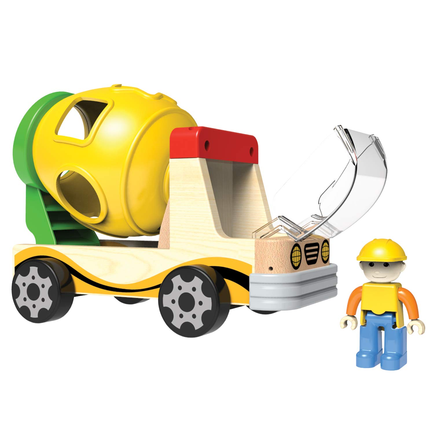 Little Moppet Mixer Truck with Shape Sorter Family Games America