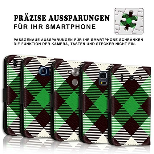 Wallet Book Style Flip Handy Tasche Case Schutz Hülle Schale Motiv Etui für Apple iPhone 6 / 6S - Design Flip MVD216