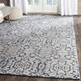 Safavieh Sofia Collection SOF381C Vintage Blue and Beige Distressed Area Rug (3′ x 5′) For Sale