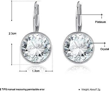 Gold Hoop Earrings Jewelry Birthday Gifts Presents Gemstone for Women Anniversary Zirconia Crystal