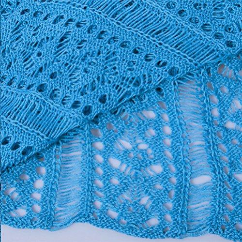 Bikini da Costumi Bagno Uncinetto Donna Blu Copricostume Abito ATEENY Spiaggia Coprire da wqz0n1