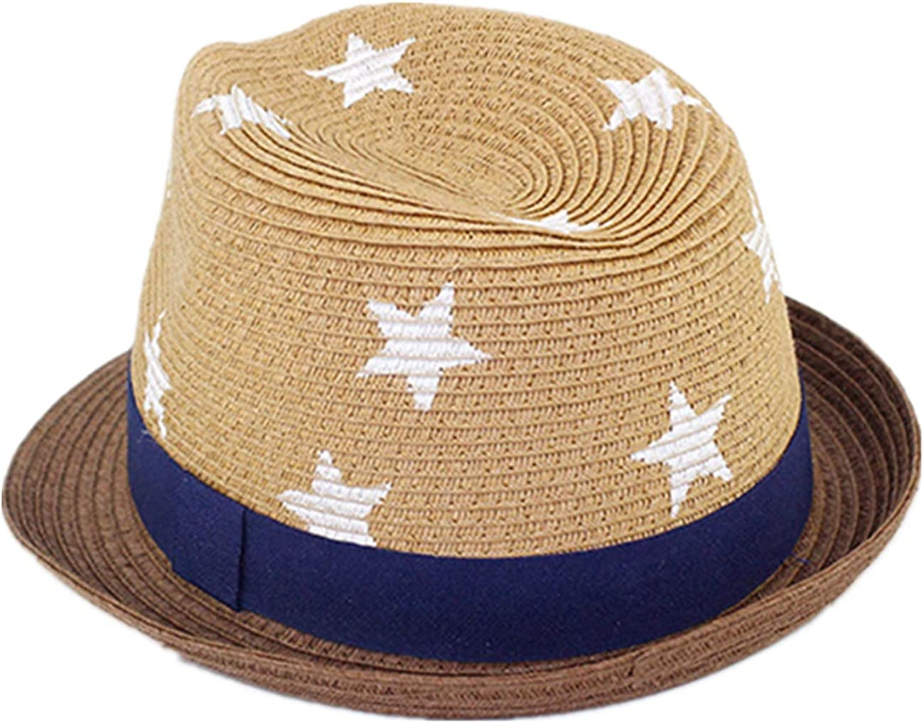 LLmoway Kids Summer Straw Hat for Baby Infant Toddler Boys Fedora Beach Sun Hat