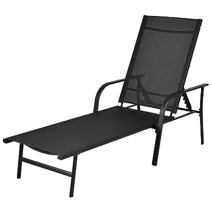 Stupendous Amazon Com Happyshopshop Back Adjustable Steel Outdoor Pool Alphanode Cool Chair Designs And Ideas Alphanodeonline