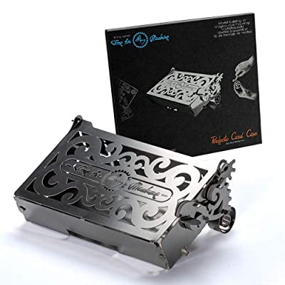 3D Metal Model Puzzle for Adults - Metal Perfecto Card Case with Opening Mechanism | Metal DIY Kit | Beautiful Metal Card Case Collectible | DIY Construction Vintage Model: Toys & Games